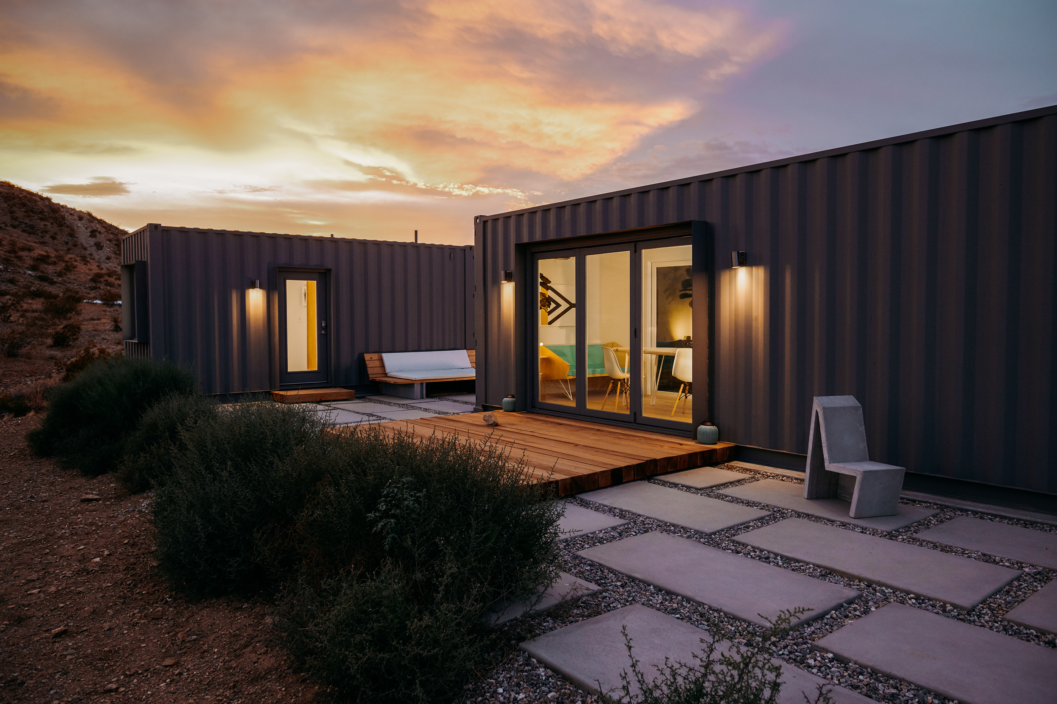 Shipping container home in Joshua Tree, CA